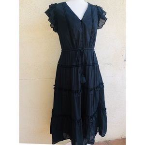 J.Crew Pom-pom dress in cotton voile